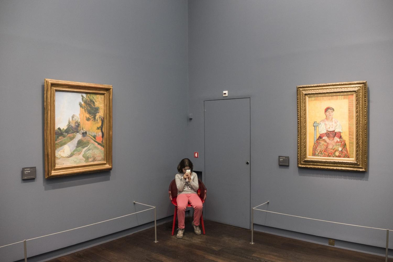 Visiteurs au Musée d'Orsay